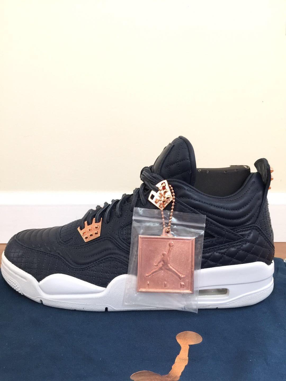 Nike Air Jordan 4 IV Retro Premium Obsidian Pinnacle pink gold, Size 9.5