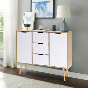Details About Sideboard 2 Door 3 Drawer Storage Cupboard Side Table Living Dining Room Kitchen