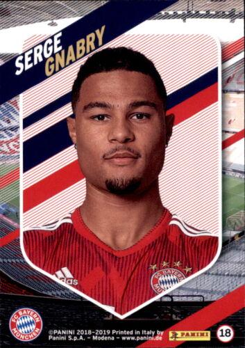 Panini FC Bayern München 2018//19 Serge Gnabry Karte 18