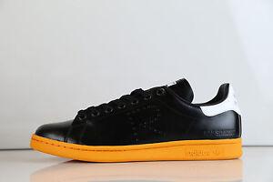huge discount 14737 b4874 Details about Adidas X Raf Simons Stan Smith Black Orange BB2647 $400  7.5-12 rf