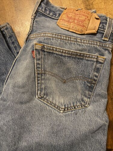 vintage levis 501xx made in usa 35x36 Fits 32x32 - image 1