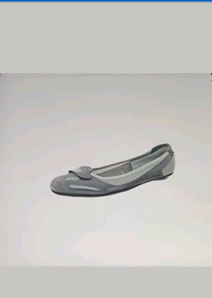Puma Femme Zandy Casual brevet Flats Chaussures en acier gris