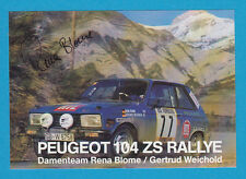 Rena Blome - Peugeot 104 ZS Rallye - # 13937