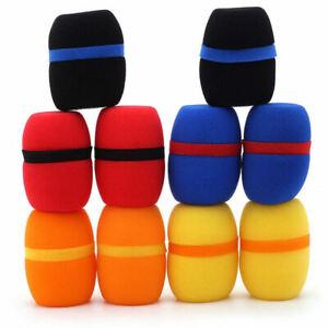 10-Pcs-Handheld-Stage-Microphone-Windscreen-Foam-Mic-Cover-Karaoke-New-5-UXF