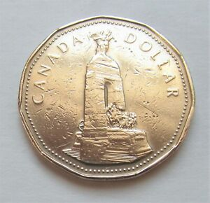 1994-CANADA-WAR-MONUMENT-COMMEMORATIVE-LOONIE-combined-shipping