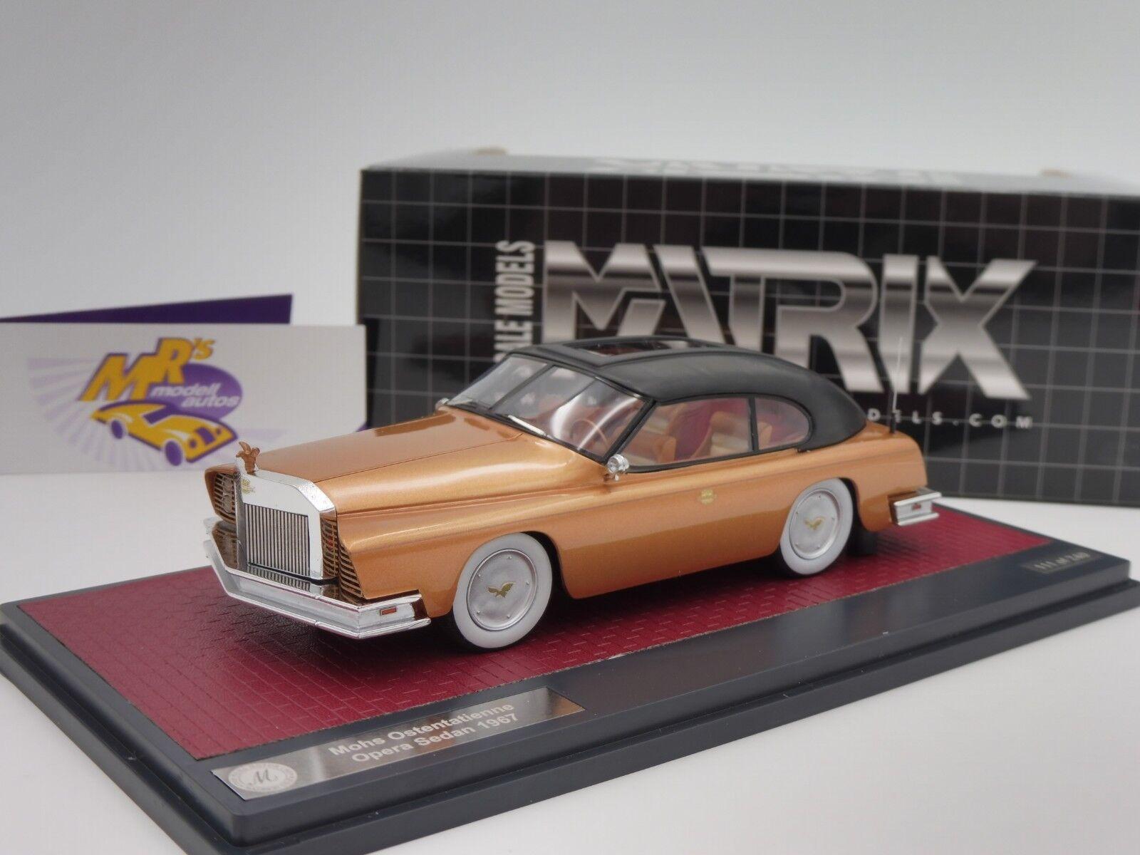 Matrix 41306-011   Mohs Ostentatienne Opera Bj. 1967   Goldmetallic   1 43 NEU  | Helle Farben