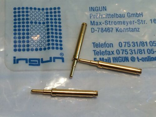 fbb22.1 x10 INGUN GKS-113 SPRING LOADED PIN TEST POINT GOLD PROBE