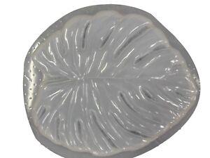 Énorme Feuille Décoratif Stepping Stone En Plâtre Ou En Béton Moule 1134 Moldcreations-afficher Le Titre D'origine Bon Pour L'éNergie Et La Rate