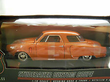RARE HIGHWAY 61 STUDEBAKER CUSTOM COUPE (METALLIC ORANGE) 1/18 DIECAST