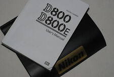 Genuine NIKON D800 Digital SLR Camera Original USER GUIDE Instruction Manual