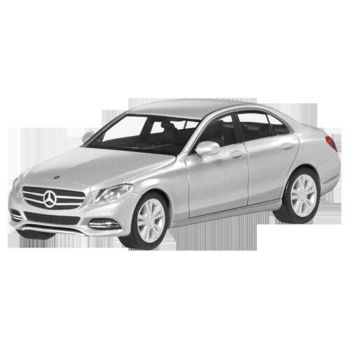 Mercedes Benz W 205 C Klasse Avantgarde Iridiumsilber 1:87 Neu Herpa OVP