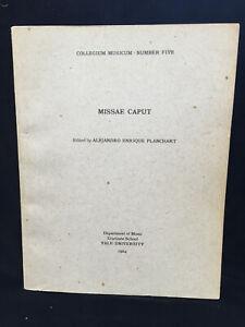 PLANCHART-Missae-Caput-Dufay-Ockeghem-VOCAL-SCORE-YALE-1964-SIGNED