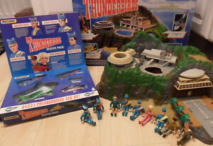 Original Vintage Tracy Island Set 5 Figurines en métal Thunderbird Fab1 1 2 3 4 & 10