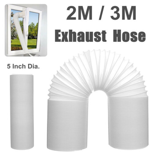 Duct Outlet 2//3M Flexible Air Conditioner Exhaust Pipe Vent Hose Tube 130mm Dia