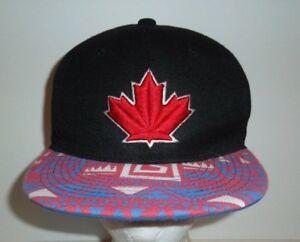 New Era Toronto Blue Jays Maple Leaf Logo Snapback Hat Cap Black Red ... 34e97c713342