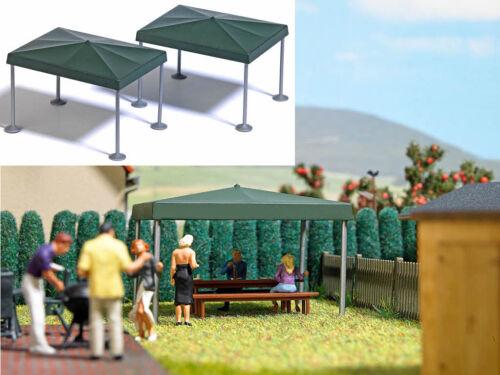 Busch 7797 deux Fête Pavillon Pavillon de jardin Kit h0 NEUF
