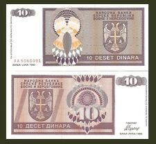 Bosnia P133a,10 Dinara - Serbian Republic, UNC 1992
