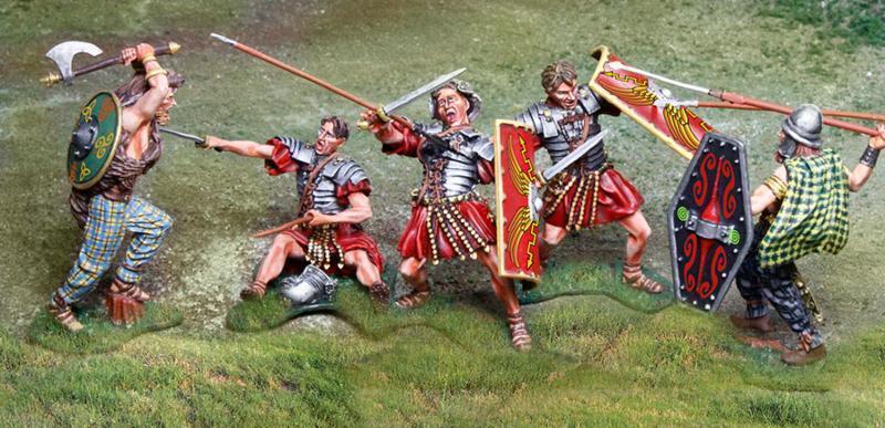 The Collectors ShowCase ROMA 43ad 5 pezzi romana & BARBARO Set  2 MIB