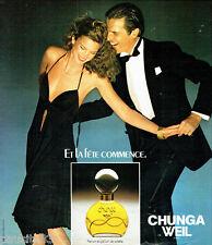 PUBLICITE ADVERTISING 066  1978  Chunga Weil parfum toilette