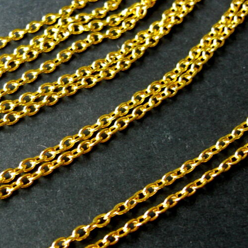 LEAD /& NICKEL FREE 10 METER GOLD PLATED CHAIN FINDINGS 3mm x 2mm