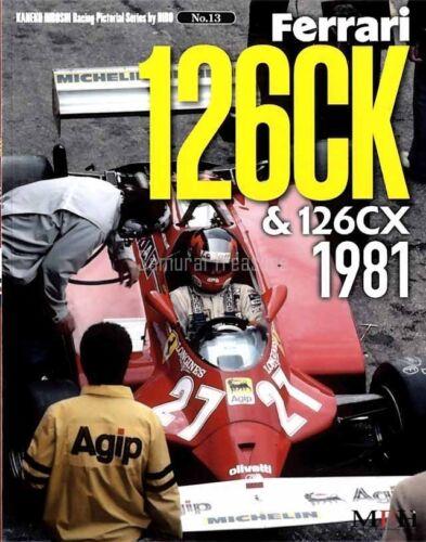 Ferrari 126CK 126CX 1981 Photo Book Gilles Villeneuve Didier Pironi