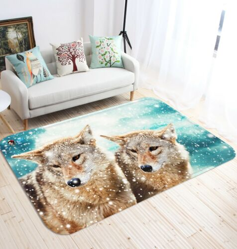 3D Snow Wolf Nature 65 Non Slip Rug Mat Room Mat Quality Elegant Photo Carpet AU