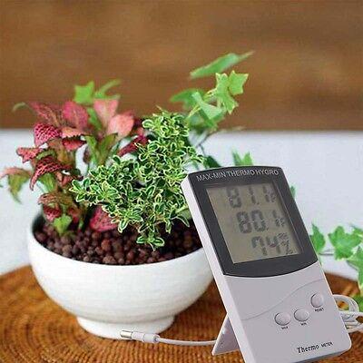 Digital LCD Indoor/ Outdoor Thermometer Hygrometer Temperature Humidity Meter