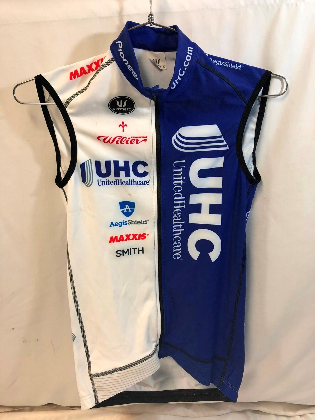 United Healthcare Vermarc Mens Pro Cycling Vest Medium Thermal Road Bike UHC