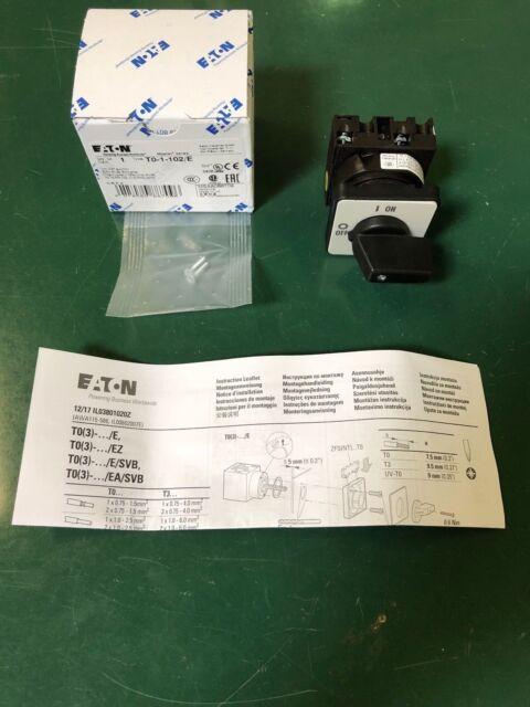 EATON T0-2-1//E Ein-Aus-Schalter Fronteinabu 024639
