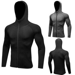 Men-039-s-Sports-Hoodies-Running-Jogging-Basketball-Gym-Long-Sleeve-Dry-fit-Full-Zip