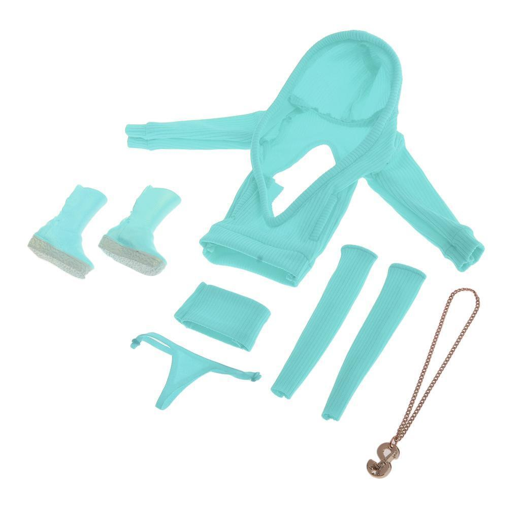 1 6 Female Clothes Set for 12'' HT Phicen Kumik CY CG Girls Figure Body bluee
