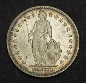 1878-Switzerland-Confederation-Scarce-Silver-2-Francs-2-Franken-Coin-aXF
