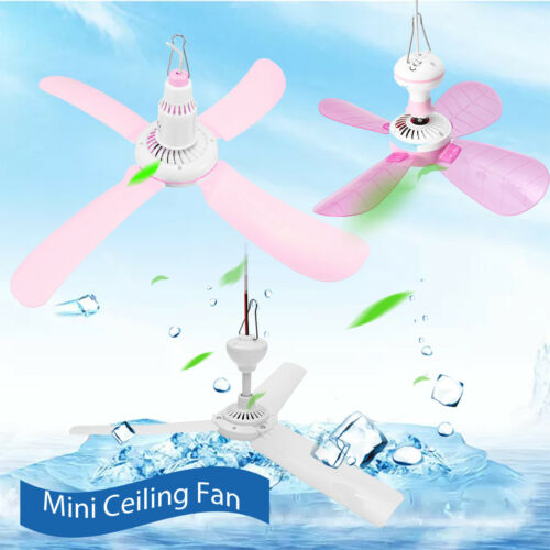 6 Tpyes Mini Ceiling Fan Portable 3 or 4 Blades Hanging Summer Cooler Gift