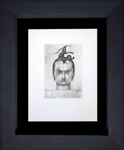 """Paul KLEE Lithograph LTD Edition """"Head of Menace"""" w/FRAME Included"""