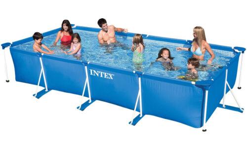Family Swimming Pool Frame Rechteck 450x220x84cm Schwimmbecken von INTEX