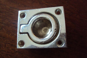 """COVER ONLY /_ Chris Craft DECK HAWSE hole PIPE Chrome Bronze round NOS 1 1//4/"""""""