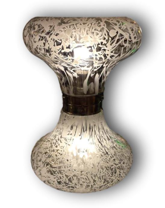Tischleuchte Tisch Lampe Mazzega 70er Jahre - Murano Glass Vintage Modernes