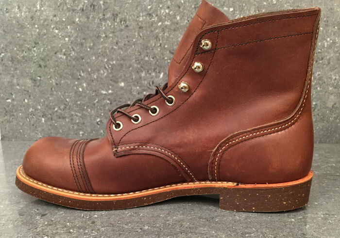 Red Wing Boots Boots Boots IRON RANGER 8111 Premium Amber Harness Leather Shoes Brown 6ae165