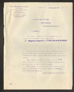 PARIS-VIII-BANQUE-034-ARGENTINE-amp-FRANCAISE-034-Emprunt-ETAT-de-MARANHOA-1910