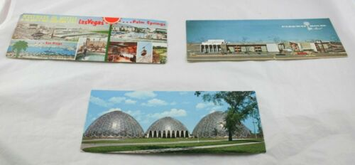Lot of 3 Wide Angle Postcards Westward Ho Motels Parkway House Airport A2G3