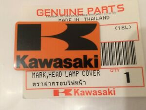 Kawasaki K Orange Black Sticker Badge Fairing Emblem 42mm X 24mm Uk Stock Ebay