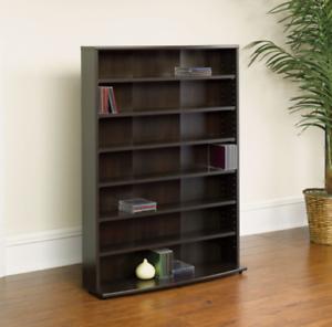 Image Is Loading Multimedia Storage Cabinet Rack Shelf Tower Tall Media