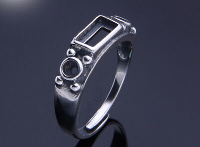 12.5*15.5mm 925 Sterling SILVER Semi Mount Blanks ring Setting Jewelry DIY P2982