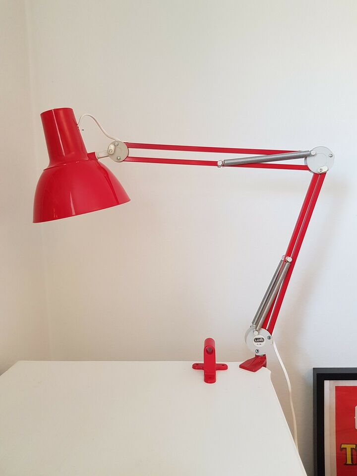 Luxo, 85 - metal med plastskærm., arkitektlampe