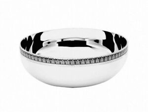 Malmaison-by-Christofle-Silver-Plate-Coupe-Ronde-Round-Serving-Bowl-Small-New