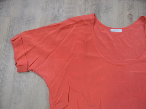 Kos418 soie blush orange en M Gr Iheart shirt Beautiful Top twaWgz