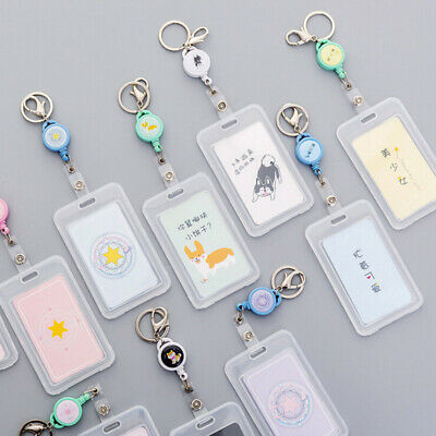 Recoil ID Badge Lanyard Retractable Reel Tag Keys Card Holder Belt Clip In jiTOC