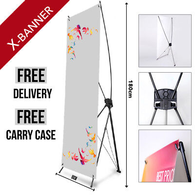 Roll Up Sign Exhibition 200cm x 80cm Pull Pop Pull Up Banner Display