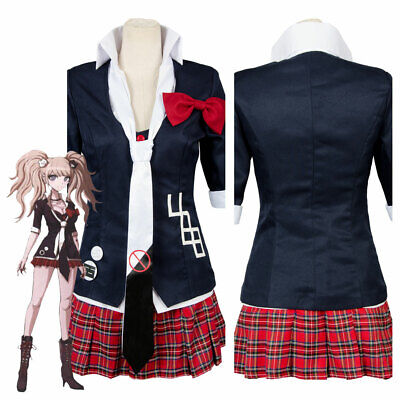 Danganronpa Junko Enoshima Cosplay Full Set Uniform Hairpiece Wigs Women Costume