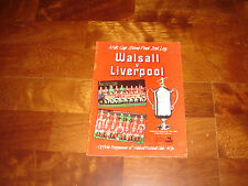 OFFICIAL PROGRAMME    WALSALL Vs LIVERPOOL   FEBRUARY 1984   MILK CUP SEMI-FINAL